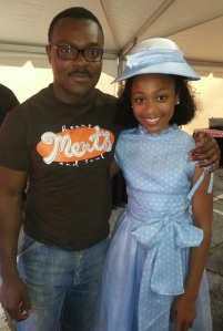 "Trinity Simone and David Oyelowo on the set of ""Selma."""