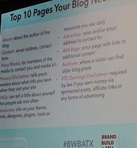 ten things your blog needs