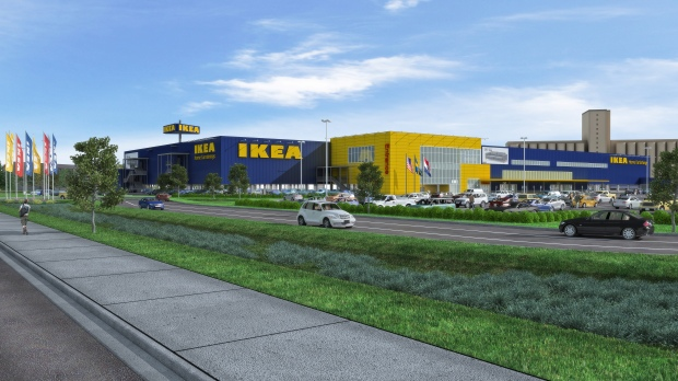 Architectural Rendering of Future IKEA St. Louis (opening Fall 2015) - high res